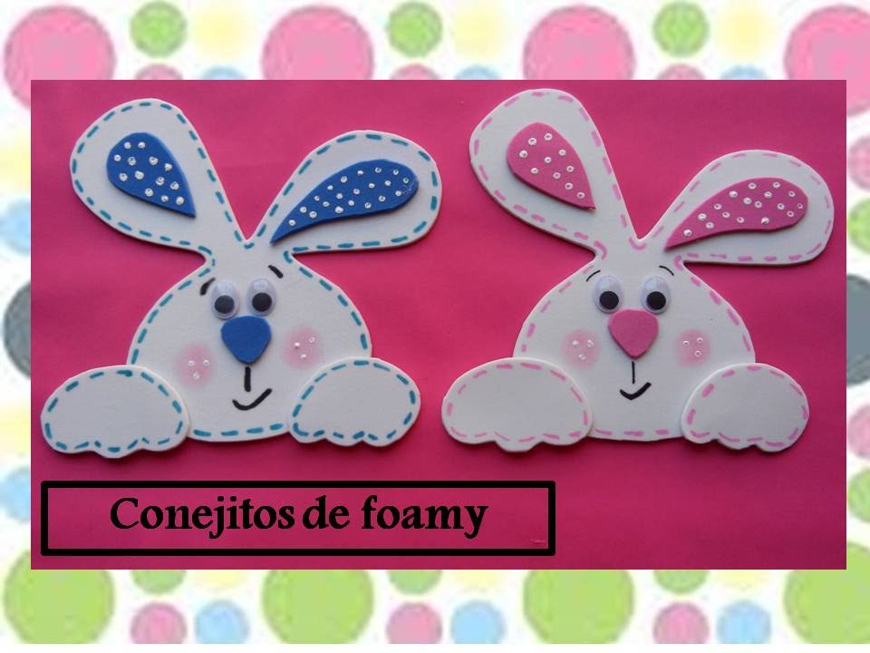 conejitos de foamy - YouTube