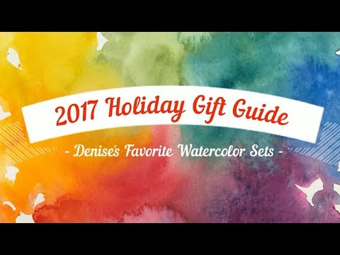 Holiday Gift Guide   Denise's Top 10 Favorite Watercolor Sets for Gifts