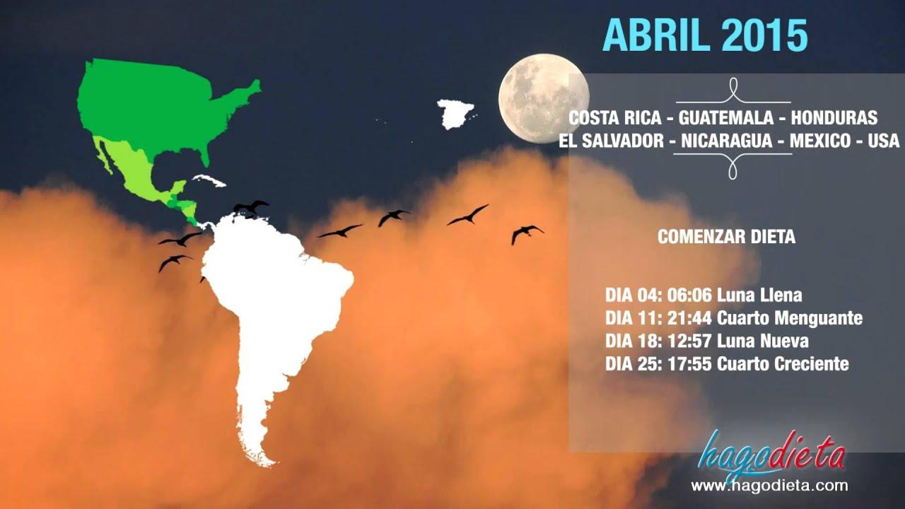 Dieta de la Luna Abril 2015 Baja 2 kilos en 1 día Calendario pais por ...