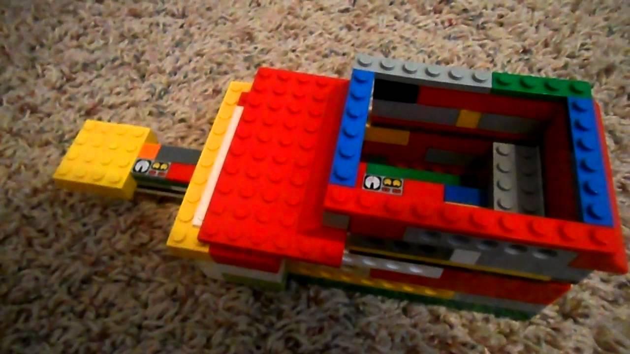LEGO trash compactor - YouTube