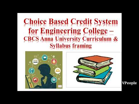 Choice Based Credit System for Engineering College – CBCS Anna University Curriculum & Syllabus