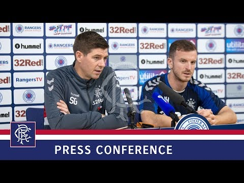 PRESS CONFERENCE | Steven Gerrard & Andy Halliday | 19 Oct 2018