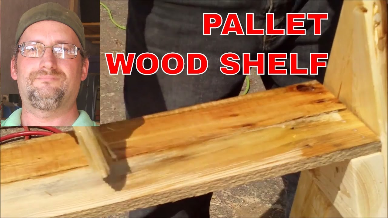 Pallet projects build a shelving system with pallet wood ...