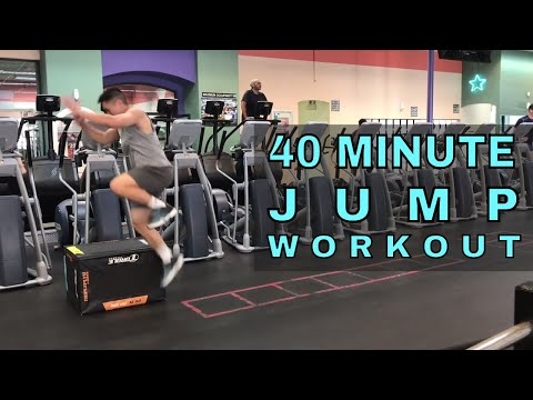 40 Minute Jump Training Workout (How To Jump Higher)