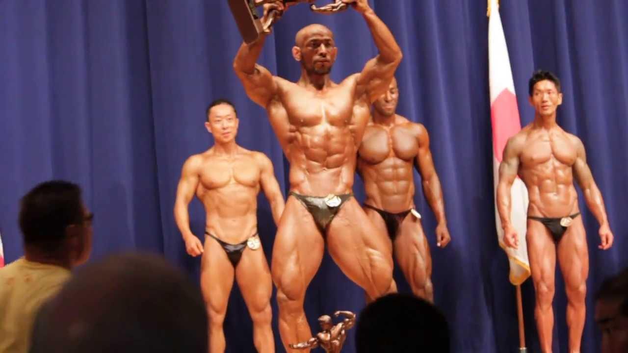 2013 Central Japan Bodybuilding Championship in Yokota AB  Over All Pose  Down & Award