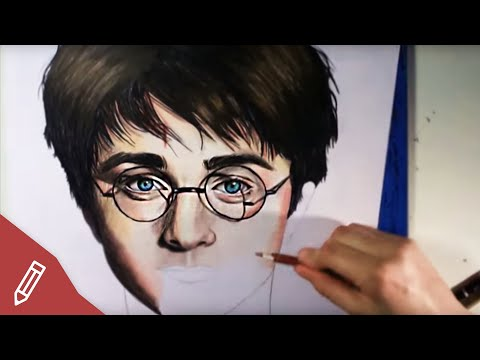 SPEED DRAWING: Harry Potter /Daniel Radcliffe – REALISTIC PENCIL PORTRAIT | Zeichnen Mit Buntstiften