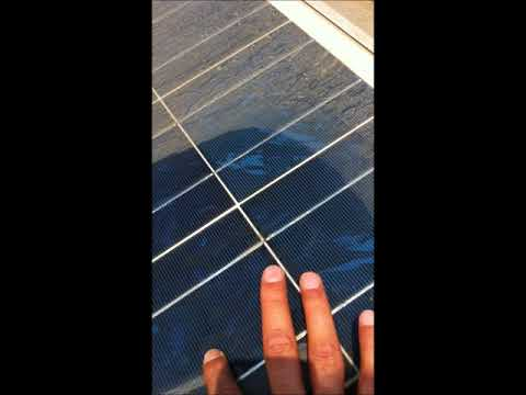 Solar Panel Cleaning Technique