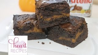 Pumpkin Nutella Fudge Brownies