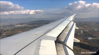 Aegean Airlines A320 Beautiful Scenic Approach & Landing at Thessaloniki Airport [HD]