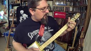 """Gambar cover The """"T Shape"""" Blues Lick for Cigar Box Guitar - by Shane Speal"""