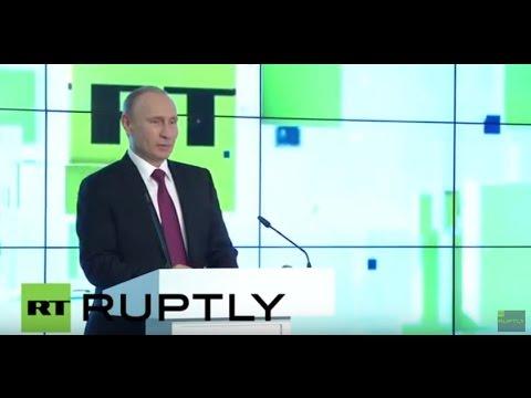 Russia: Putin praises RT at 10th anniversary celebrations