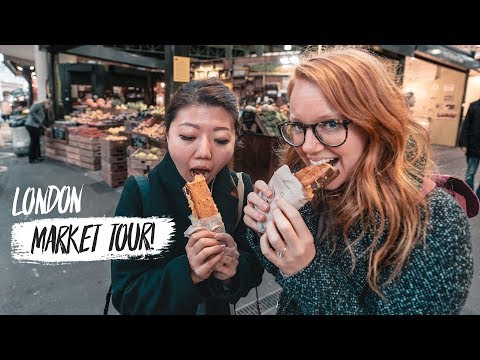 Best Street Food Market IN LONDON! - Borough Market Tour with CupofTJ