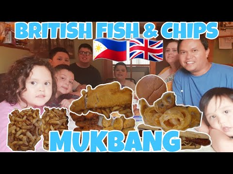 BUHAY UK: FOOD MUKBANG - BRITISH FISH & CHIPS | SARAP NG COD FISH+CHIPS+SAUSAGES+ONION RINGS+BURGERS