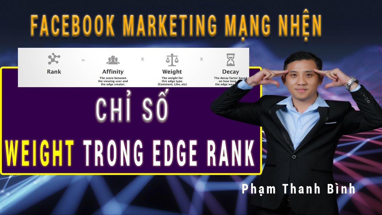 Chỉ số weight trong thuật toán Edgerank của Facebook 2020- Bài 06