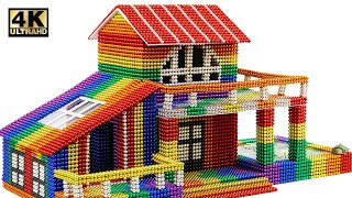 how To Build Awesome Mini House From Magnetic Balls (Satisfying) | Magnet World Series