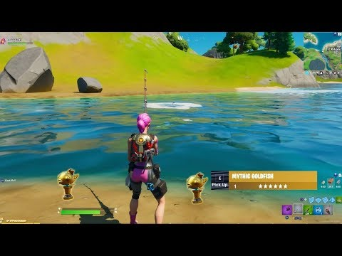 5 Of The Luckiest Mythic Goldfish Catches On Fortnite Battle Royale!!