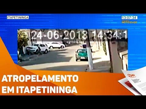 Atropelamento em Itapetininga - TV SOROCABA/SBT