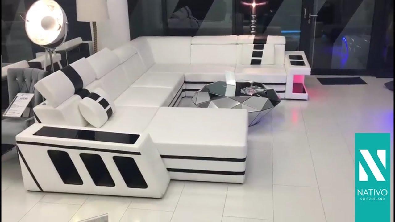 Nativo Mobel Schweiz Designer Sofa Carezza Xxl Mit Led Beleuchtung