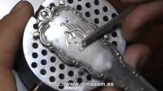 Grabado en plata Artesanal