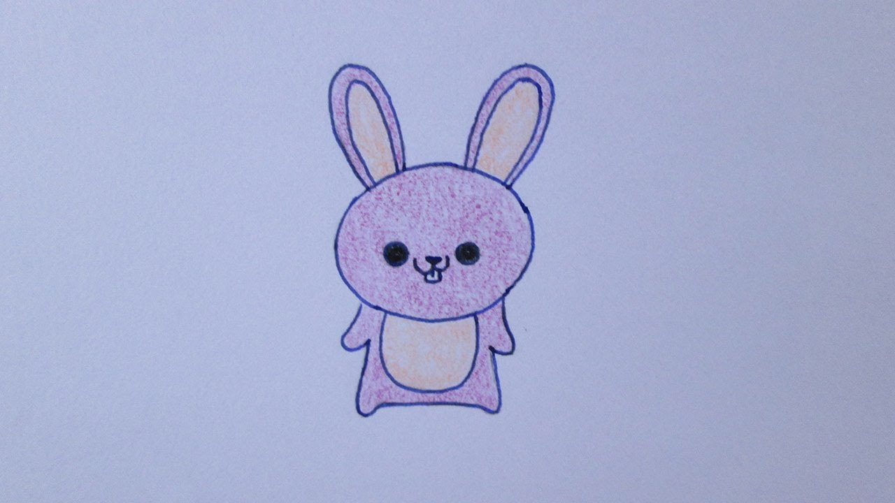 Como Desenhar Coisa Amorosa: Como Desenhar Um Coelhinho Muito Fofo