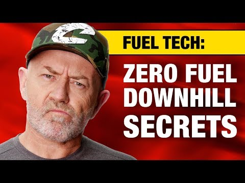 How much fuel does an engine burn driving downhill? | Auto Expert John Cadogan