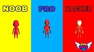 RUN RACE 3D - NOOB VS PRO VS HACKER