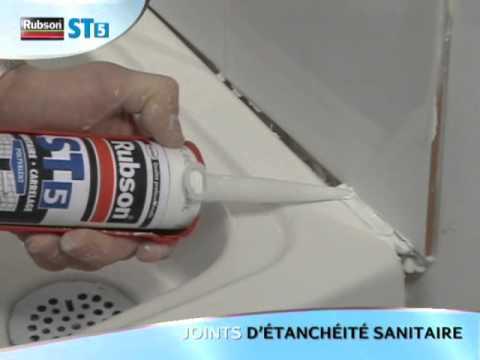nos vidéos de démonstration - rubson - mastic sanitaire st5 - youtube - Rubson Joint Salle De Bain