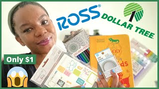 Ross and Dollar Tree Haul | Affordable Bible Study and Creative Art Journaling Supplies