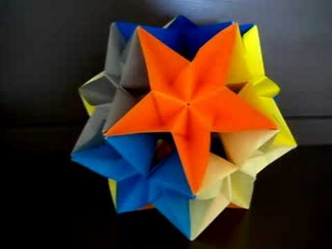 Complex Dodecahedron Modular Origami