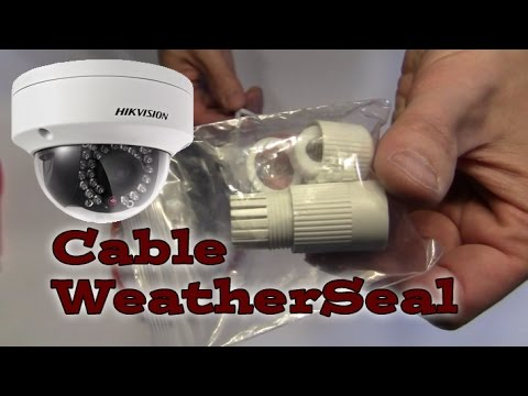 RJ-45 Weather Seal Grommet / Coupler HIKVISION IP Dome ...