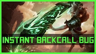 [BUG] Riven - instant Backcall | League of Legends