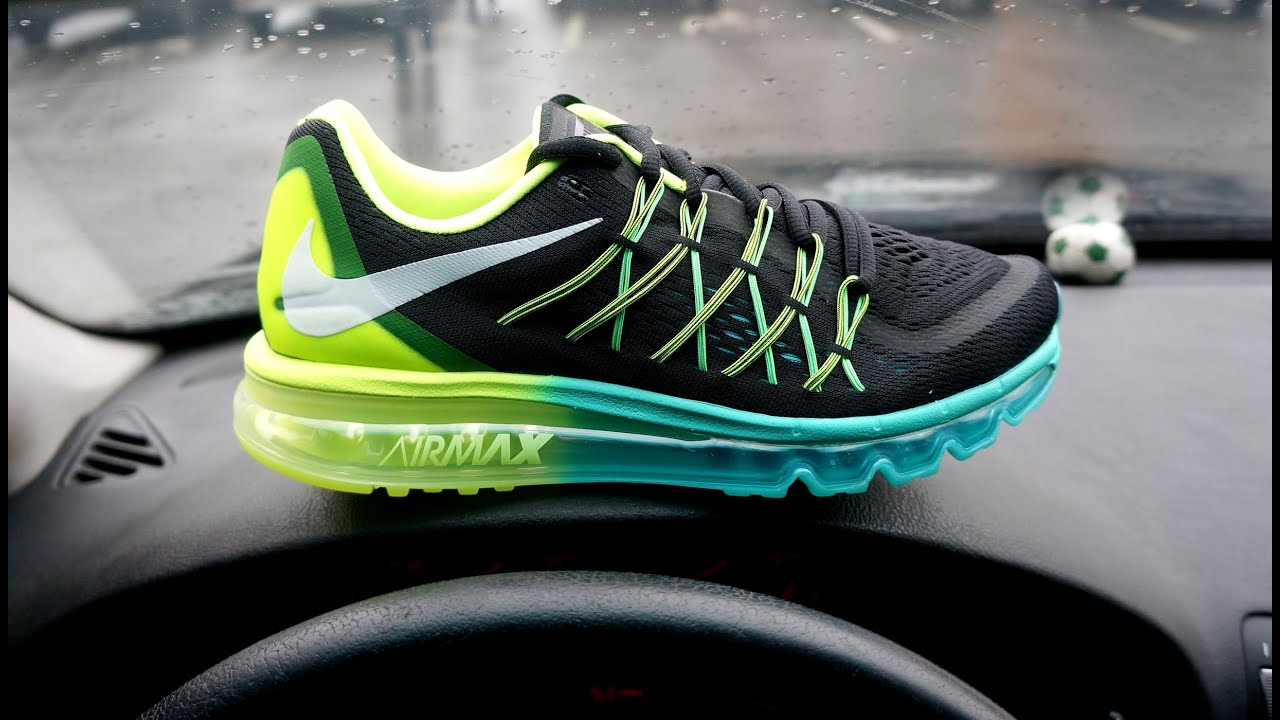 Nike Air Max 2015 Volt Hyper Jade On Feet Sneaker Review
