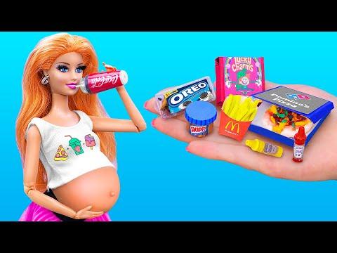 Миниатюрная еда для Барби / 16 лайфхаков и поделок для Барби