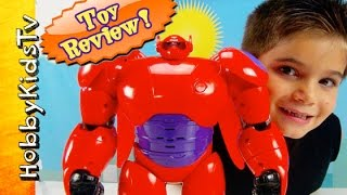 Deluxe Baymax Toy Flyer! HERO 6 Toy Awesome Review by HobbyKidsTV