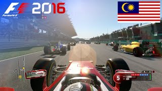 F1 2016 - 100% Race at Sepang International Circuit, Malaysia in Vettel