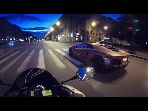 Мото покатушки по Питеру   Lamborghini Aventador & Murcielago, Yamaha R1, Honda Cbr600rr