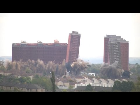 Red Road Flats Demolition' From Possilpark Flats '11/10/2015, 3:20pm