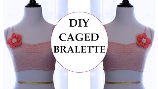 DIY  Caged Bralette, Sewing project for beginners