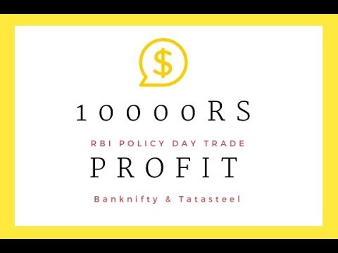 Intraday Rs 10000 Profit - RBI Policy Effect(Banknifty Tatasteel)