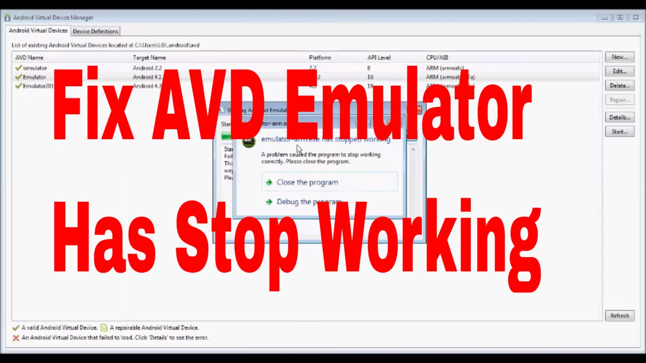 How to fix AVD Emulator arm has stopped Working #avdemulator
