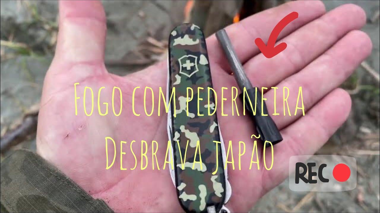 FOGO COM PEDERNEIRA!SOBREVIVENCIALISMO TÉCNICAS DE SOBREVIVÊNCIA/DESBRAVA JAPÃO.