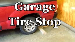 Garage Parking Stop >> Vehicle Wheel Stop Positive Parking Indicator For Your Garage