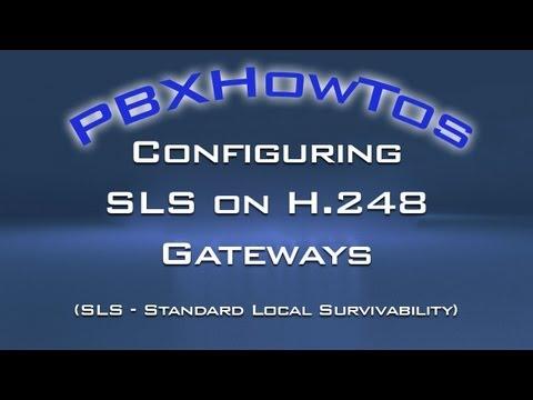 Configuring SLS for G250-G350-G430-G450 Media Gateways