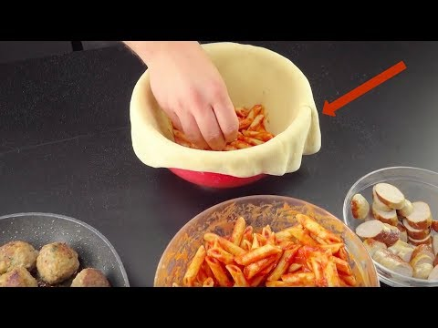 Cut The Dough Dome With A Knife! You'll Freak Out When You See The Filling.