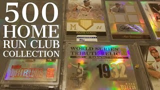 HUGE 500 HOME RUN CLUB BASEBALL CARD COLLECTION. TONS OF BAT, JERSEY, RELICS AND AUTOS!
