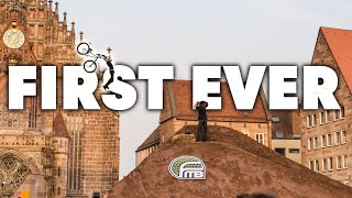 First-Ever MTB Tsunami Flip in Contest - Red Bull District Ride 2014
