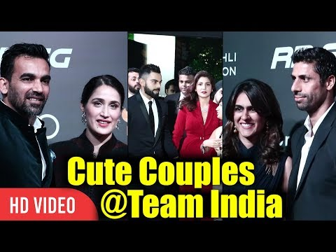 Indian Players Cute Couples | Virat Kohli & Anushka | Zaheer Khan & Sarika | Ashish Nehra & Rushma