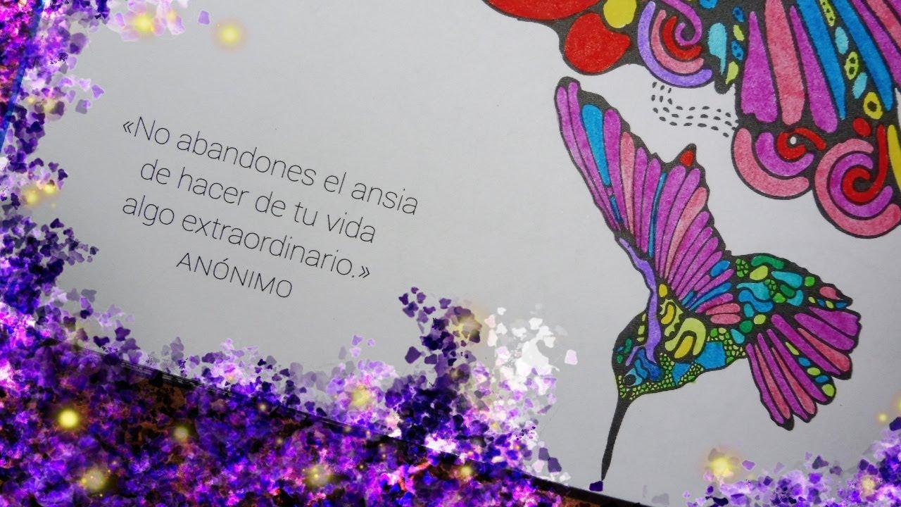 Coloreando Mandala De Colibri Frase Motivacional