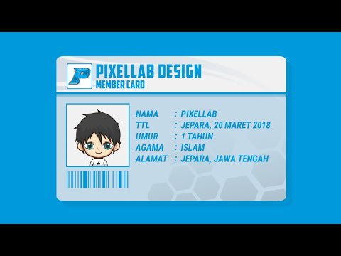 Tutorial membuat kartu anggota PixelLab Design di android || TUTORIAL PIXELLAB thumbnail