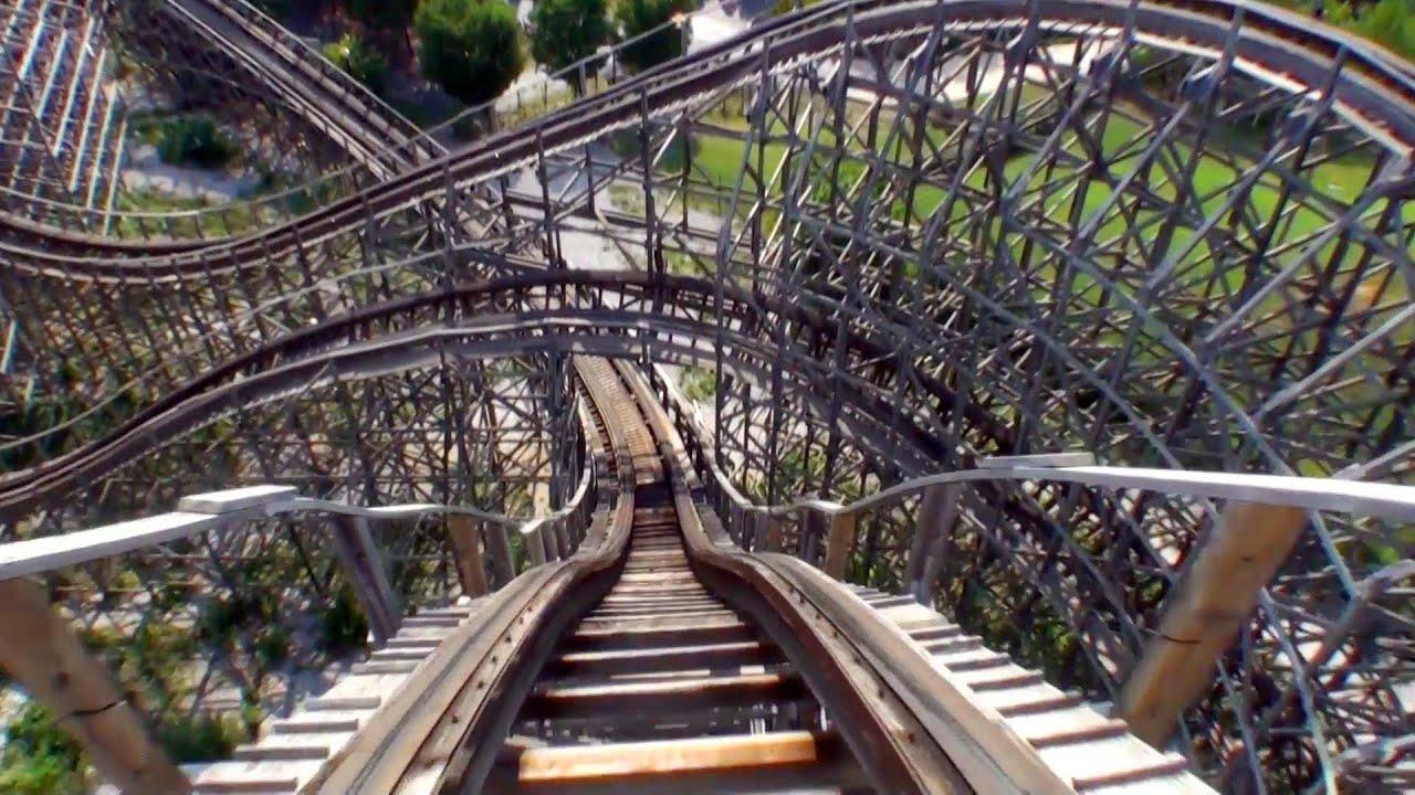 Rampage Wooden Roller Coaster POV Alabama Adventure ...